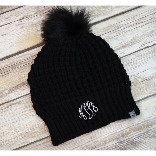 Monogrammed Winter Slouchy Knit Hat-AlfonsoDesigns