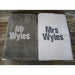 Personalized Mr and Mrs Beach Towels-AlfonsoDesigns