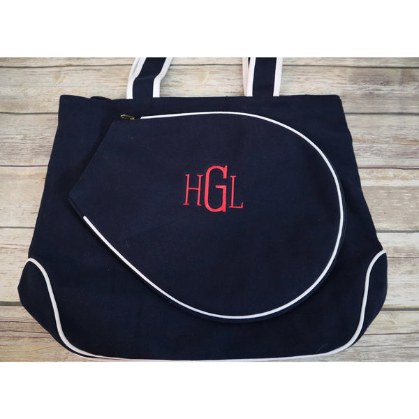 Monogrammed Tennis Racket Bag-AlfonsoDesigns