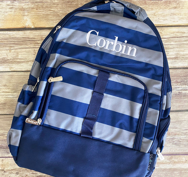 Personalized Kids Striped Backpack