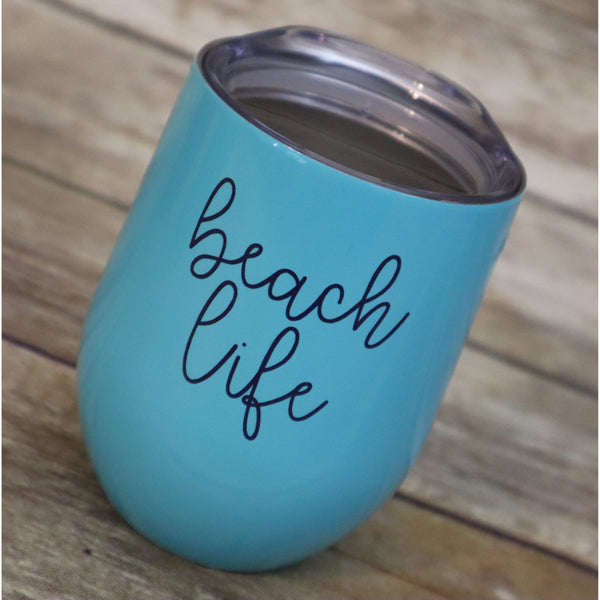 Beach Life Stainless Steel Wine Cup