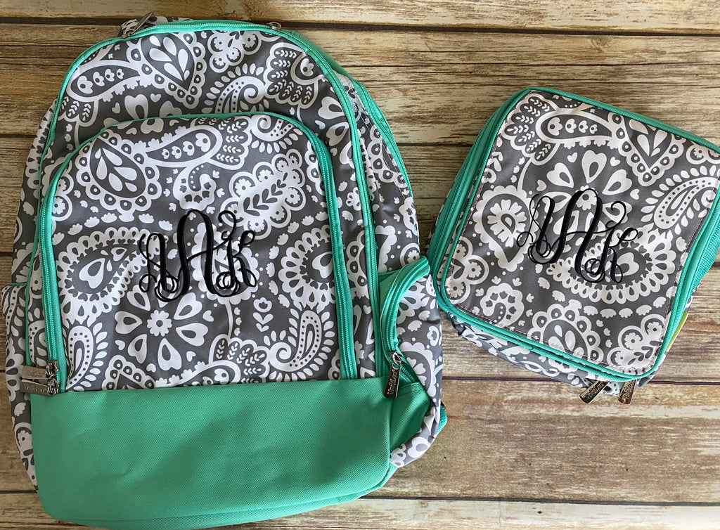 Personalized Paisley Lunch Box & Backpack