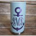 Monogrammed Anchor Skinny Can Coolers