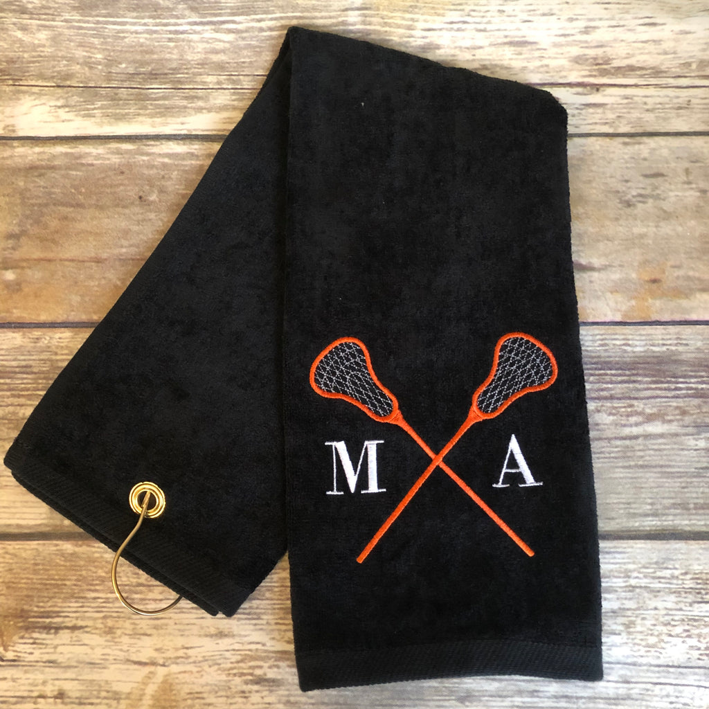 Personalized Lacrosse Towel-AlfonsoDesigns