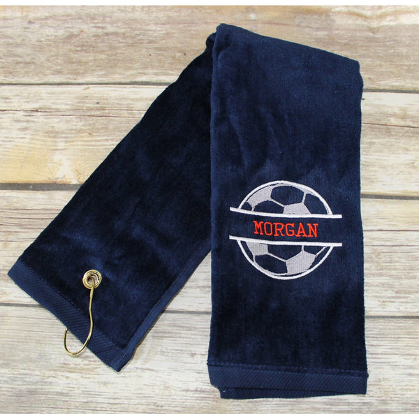 Personalized Soccer Sports Towel-AlfonsoDesigns