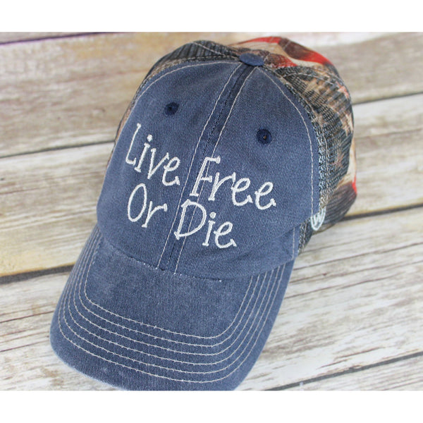 Live Free or Die Baseball Hat-AlfonsoDesigns
