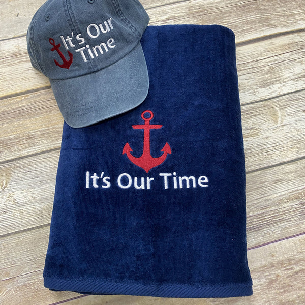 Boat Gift Set Beach Towel & Hat