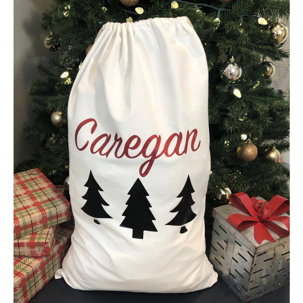 Personalized Christmas Tree Gift Sack-AlfonsoDesigns