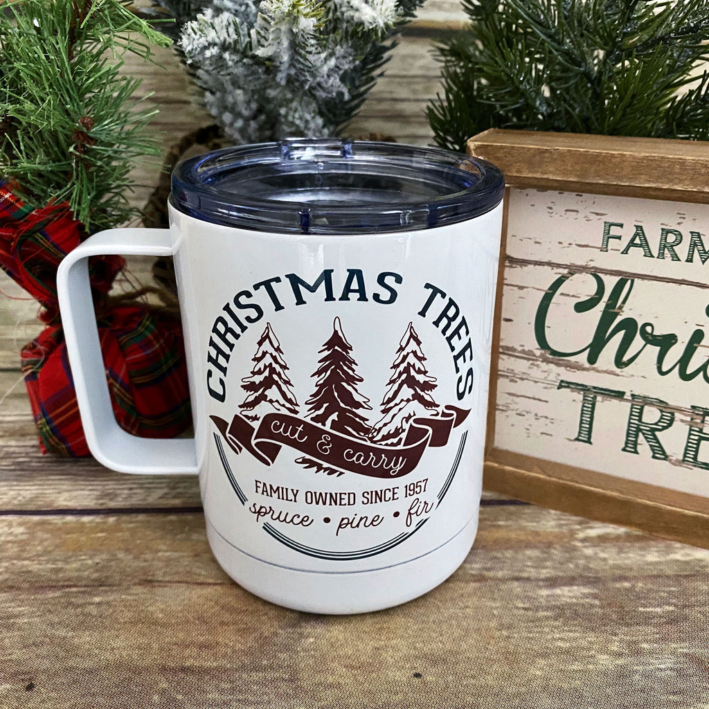 Christmas Tree Farm Stainless Steel Coffee Mug