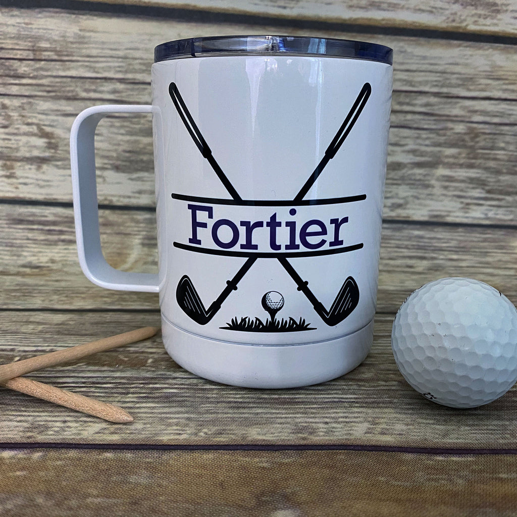Personalized Golf Stainless Steel Coffee Cup