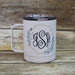 Monogrammed Floral Wreath Stainless Steel Coffee Mug