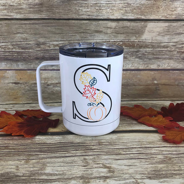 Personalized Fall Stainless Steel Coffee Mug