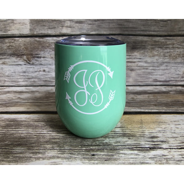 Arrow Monogrammed Wine Cup-AlfonsoDesigns