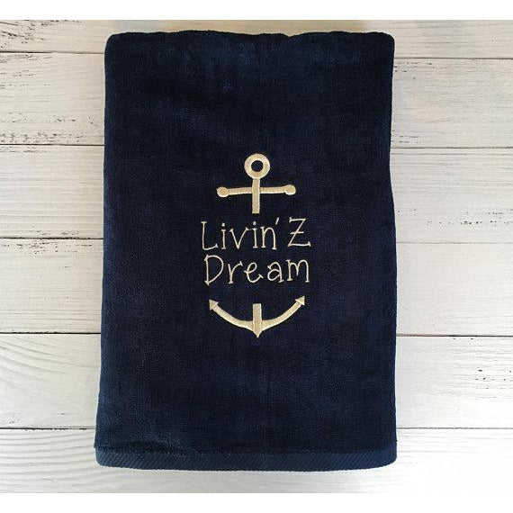 Boat Personalized Beach Towels-AlfonsoDesigns