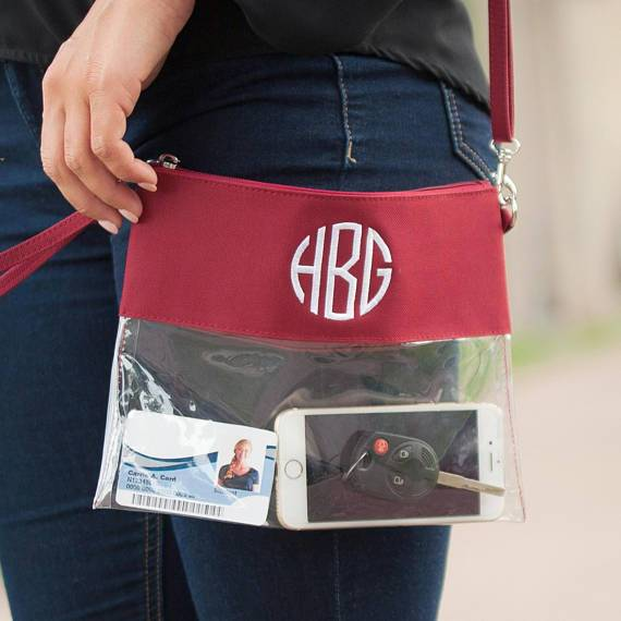 Clear Monogrammed Purse-AlfonsoDesigns
