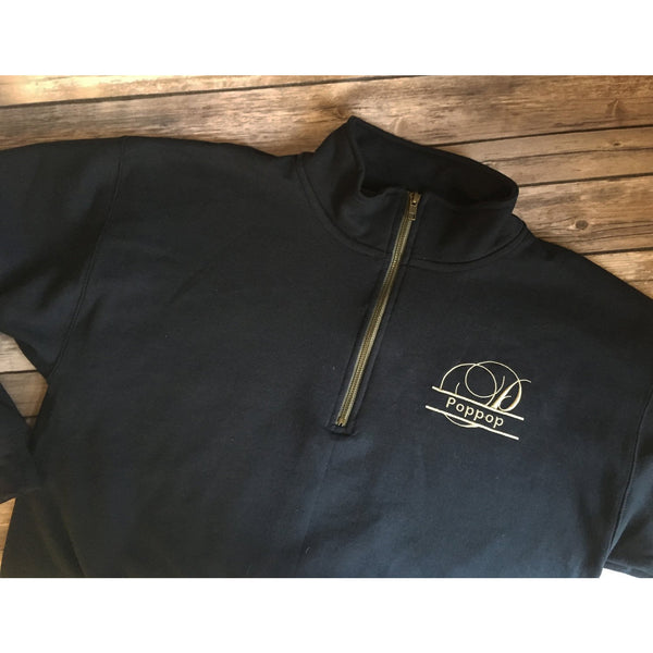 Grandparents Quarter Zip Pullover Sweatshirt-AlfonsoDesigns