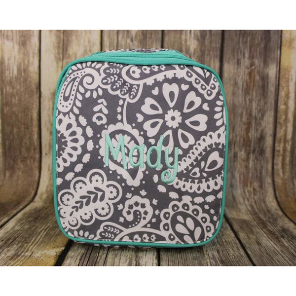 Paisley Personalized Lunch Box-AlfonsoDesigns