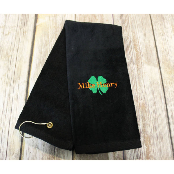 Luck of the Irish Golf Towels-AlfonsoDesigns