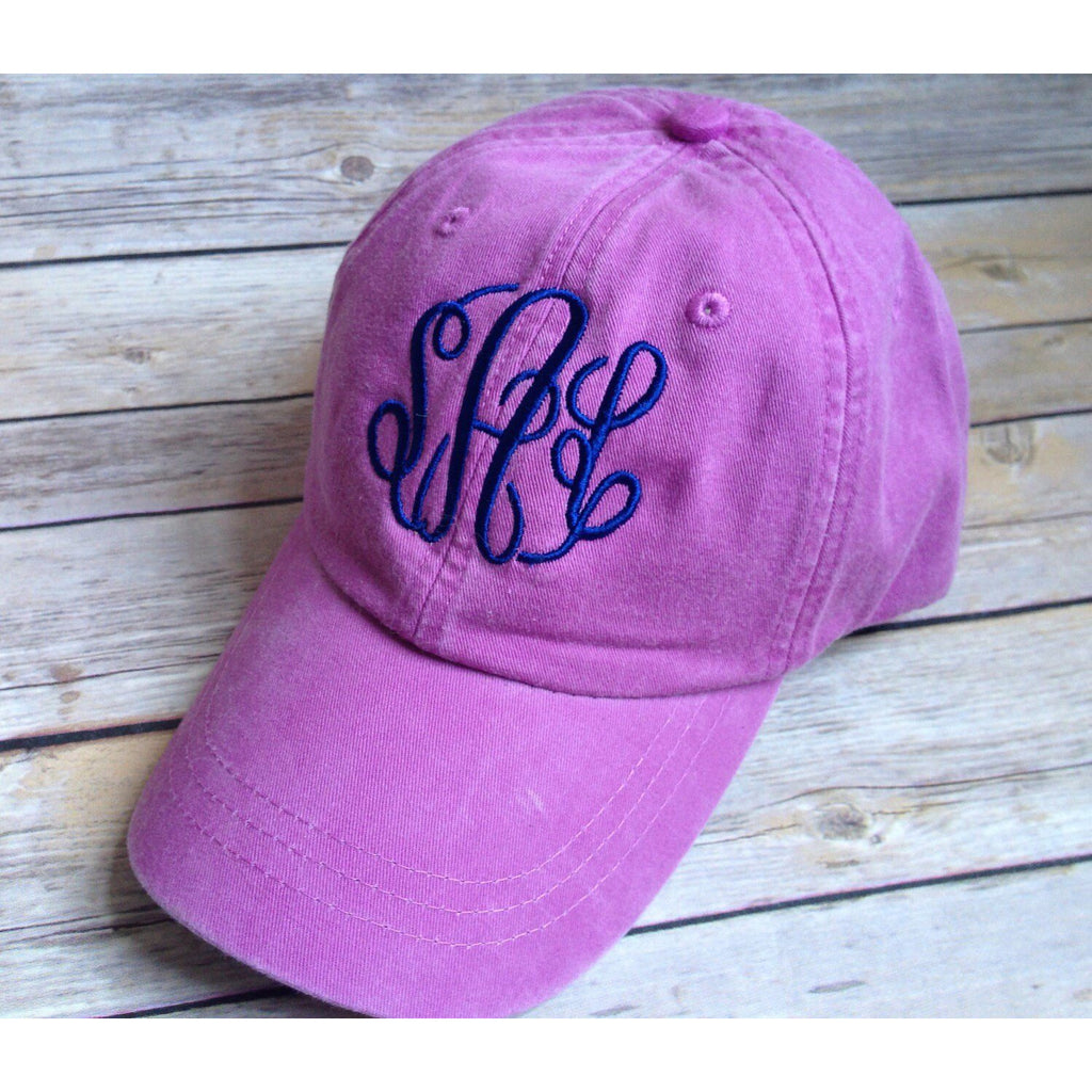 Monogrammed Adams Baseball Hat-AlfonsoDesigns