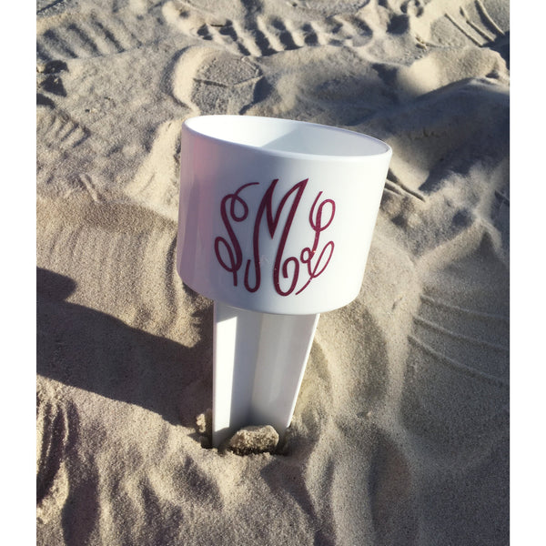 Monogrammed Beach Spiker-AlfonsoDesigns