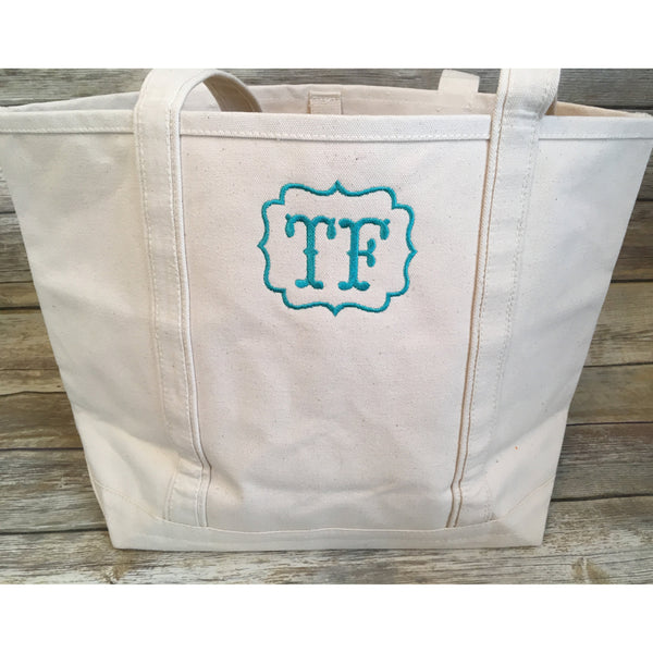 Monogrammed Boat Tote-AlfonsoDesigns