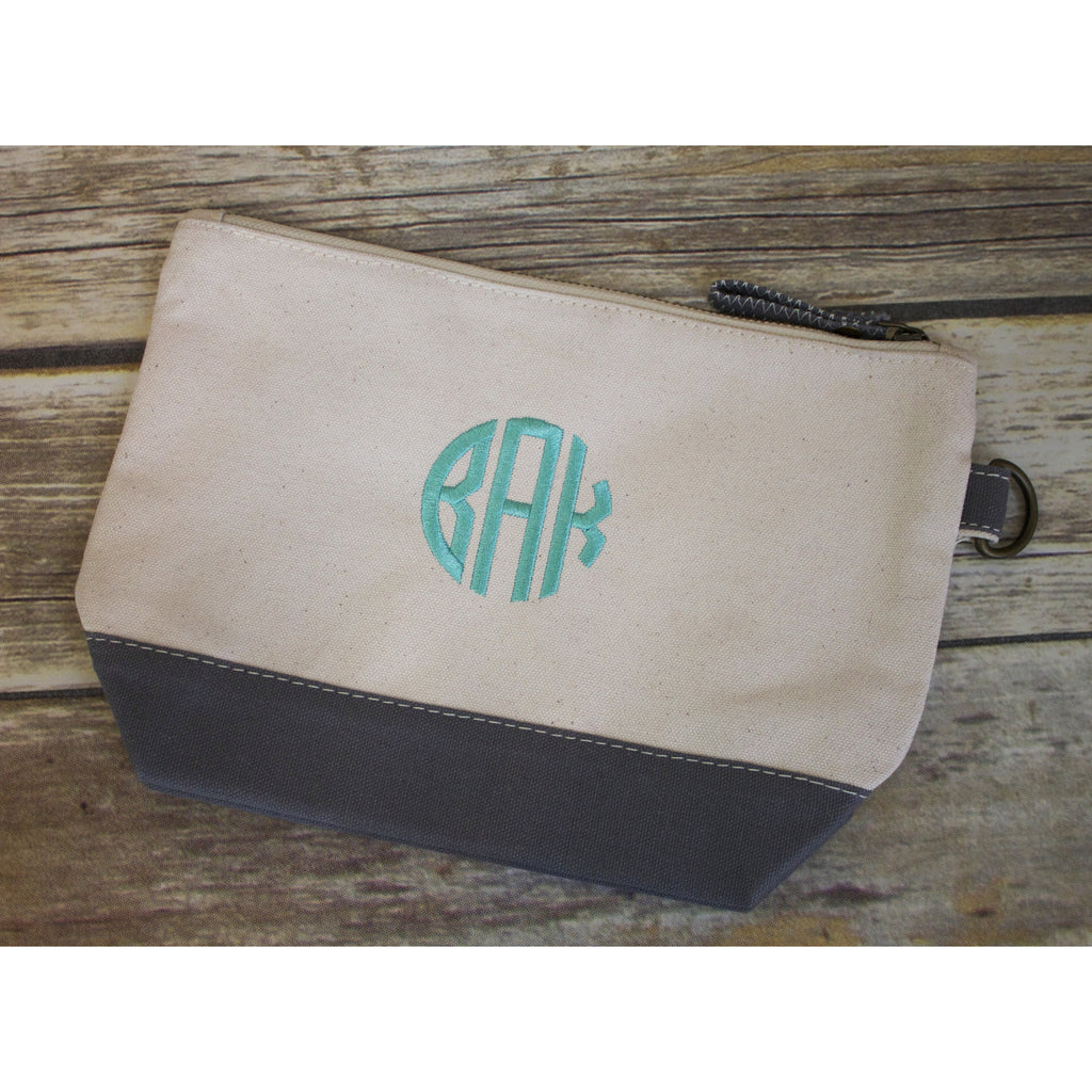 Monogrammed Canvas Pouch-AlfonsoDesigns