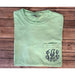 Monogrammed Comfort Colors Short Sleeve Pocket Tee-AlfonsoDesigns