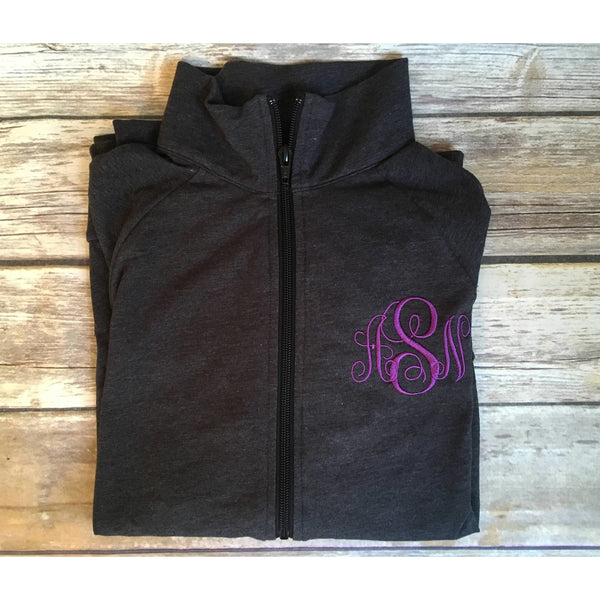 Monogrammed Full Zip Workout Jacket-AlfonsoDesigns