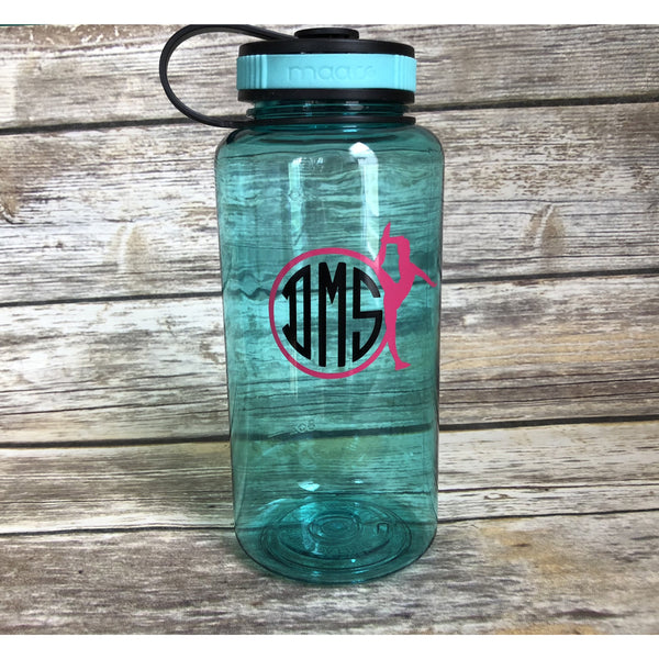 Monogrammed Gymnastics 34oz Water Bottle-AlfonsoDesigns