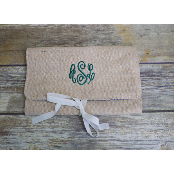 Monogrammed Jewelry Roll-AlfonsoDesigns