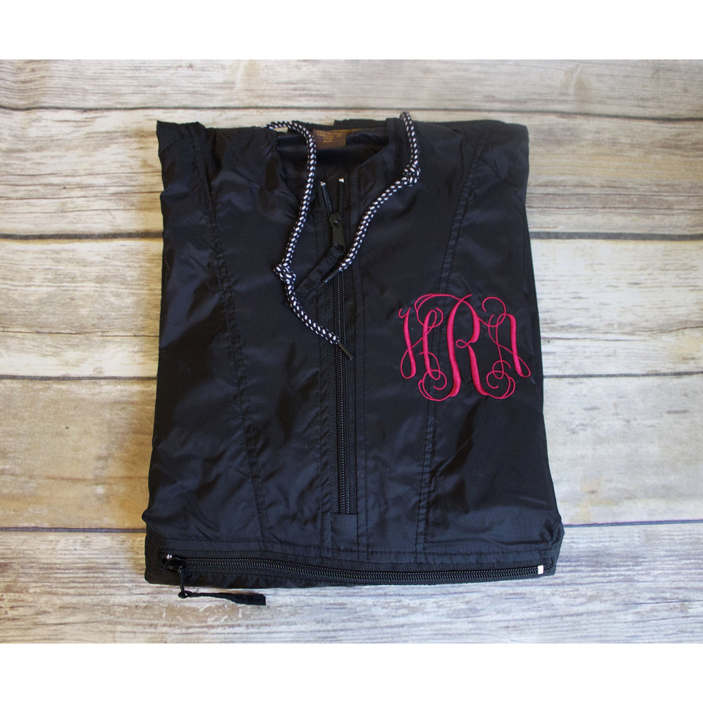 Monogrammed Pull Over Rain Jacket-AlfonsoDesigns
