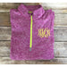 Monogrammed Quarter Zip Fleece Pullover-AlfonsoDesigns