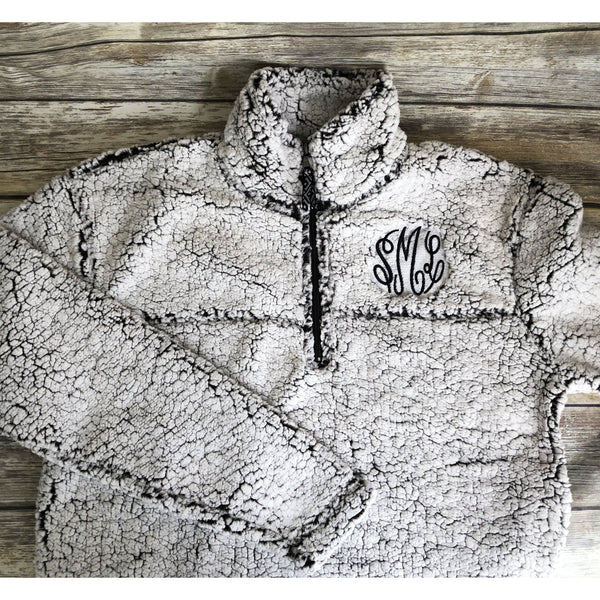 Monogrammed Sherpa Pullover-AlfonsoDesigns