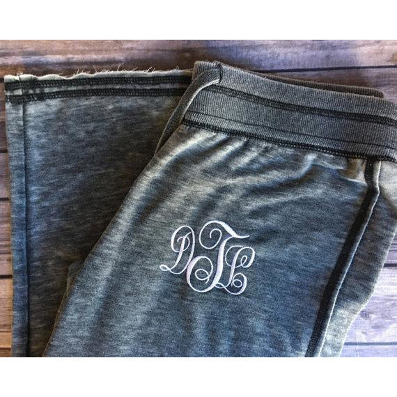 Monogrammed Ladies Sweatpants-AlfonsoDesigns