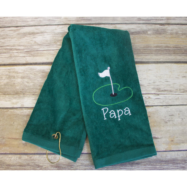 Papa Golf Towel-AlfonsoDesigns