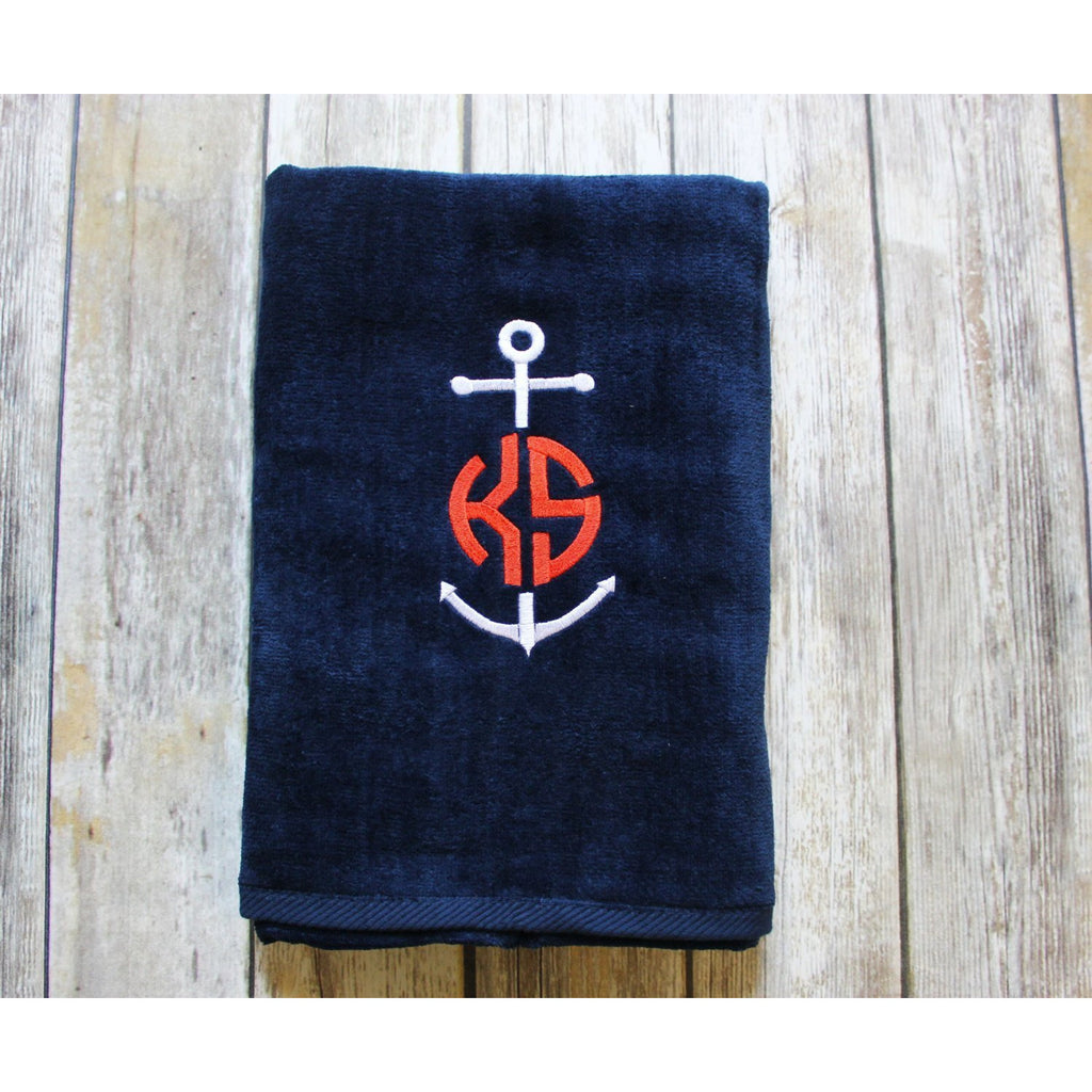 Personalized Anchor Beach Towel-AlfonsoDesigns