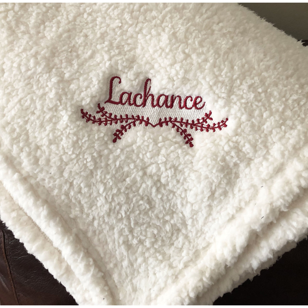 Personalized Laurel Sherpa Blanket-AlfonsoDesigns