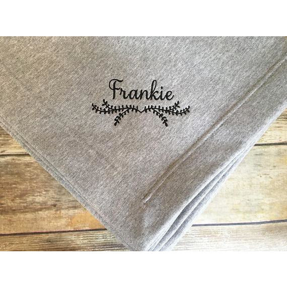 Personalized Laurel Vine Blanket-AlfonsoDesigns