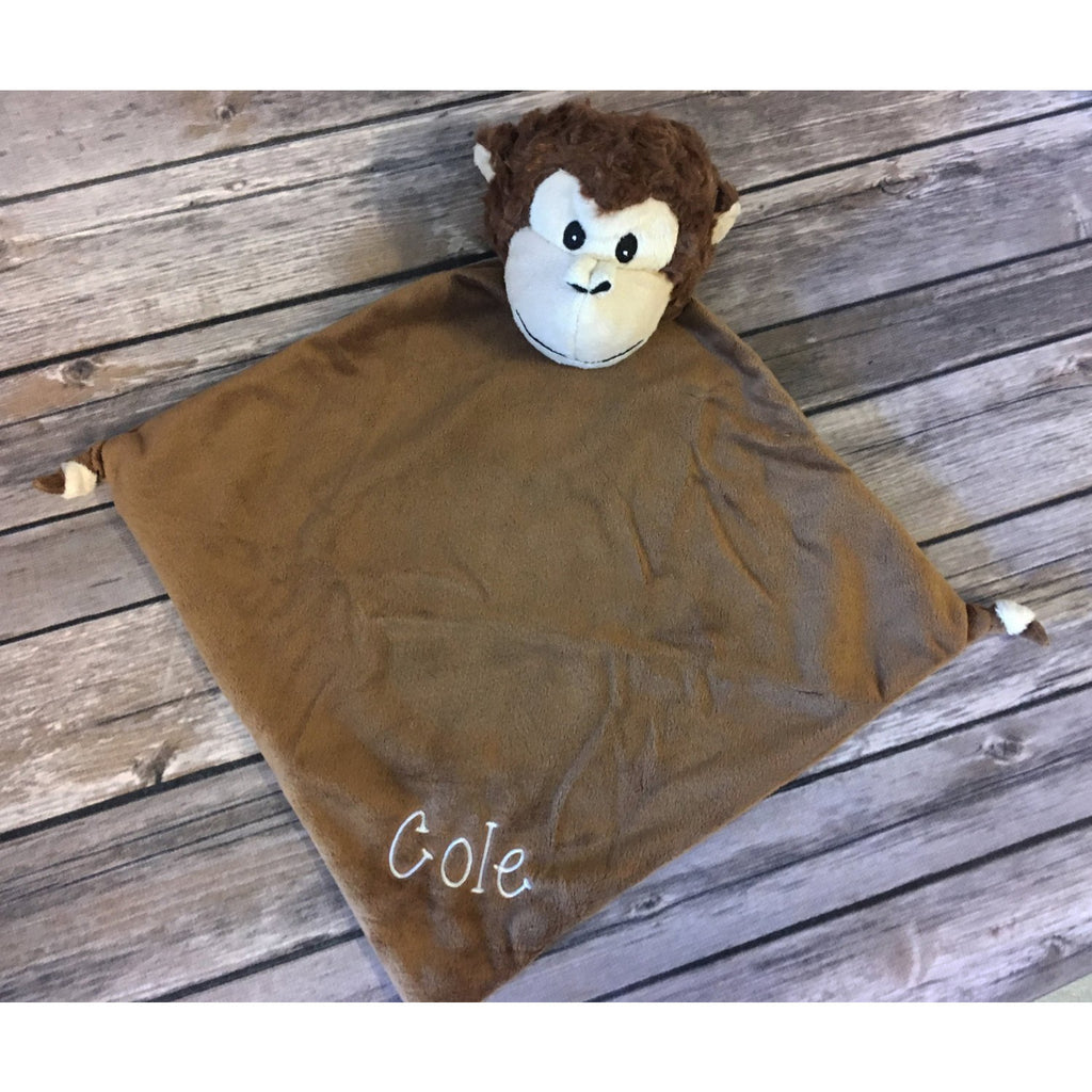 Personalized Monkey Cubbie Blanket-AlfonsoDesigns