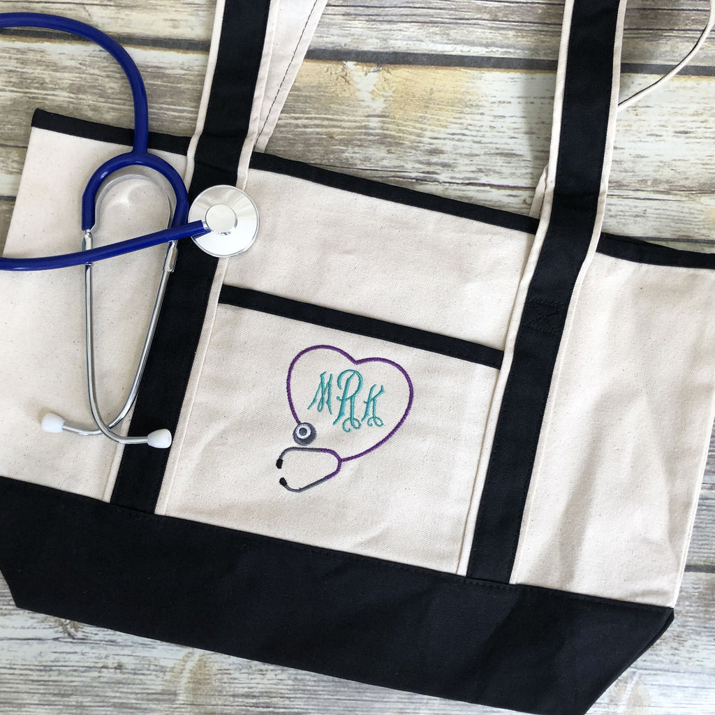 Personalized Nurses Tote Bag-AlfonsoDesigns