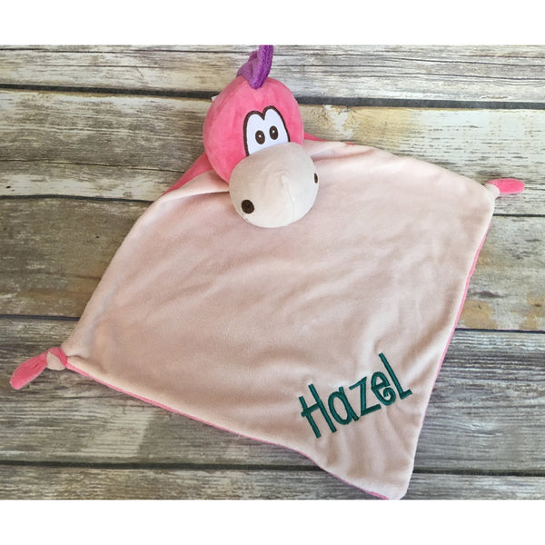 Pink Dragon Personalized Cubbie Baby Blanket-AlfonsoDesigns
