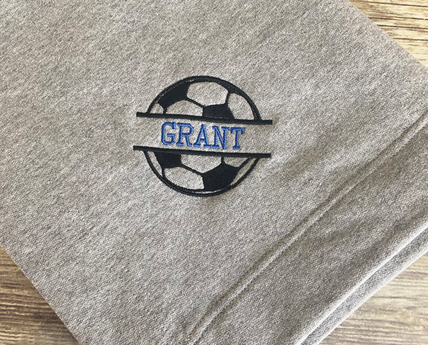 Personalized Soccer Stadium Blanket