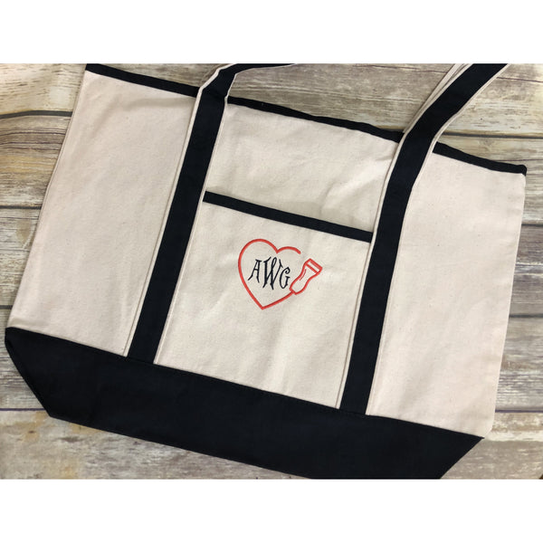 Ultrasound Technician Monogrammed Tote Bag-AlfonsoDesigns