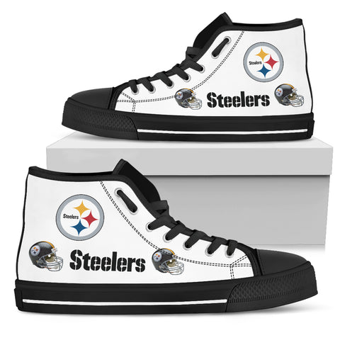 Mens High Top Shoes Steelers Sneakers Custom Printed Footwear