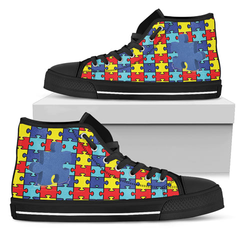 Women's High Top Autism Awareness