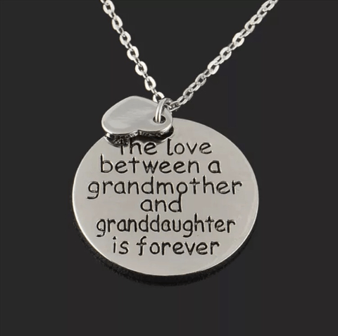 Love Between a Grandmother & Grand Daughter Necklace - Lot 33