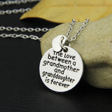 Love Between a Grandmother & Grand Daughter Necklace
