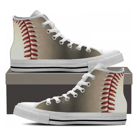 Mens' High Top Sneakers Custom Printed Canvas Shoes Baseball Softball Lovers New