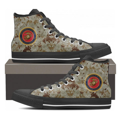 United States Marine Corp USMC Mens High Top Shoes Camouflage