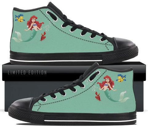 Kids Hightop Tennis Shoe Sneaker Childrens Footwear Casual Mermaid